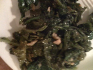 Kale with Garlic and Hot Red Peppers